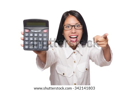 Young woman in business concept - stock photo