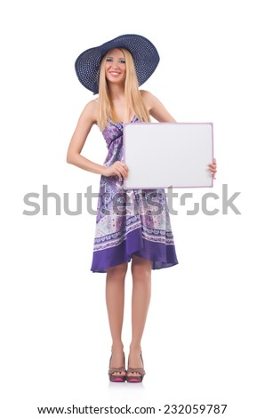 Young woman in fashion concept - stock photo