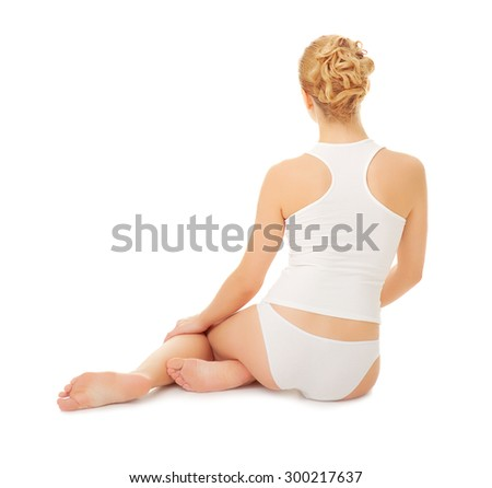 Young woman isolated on white - stock photo