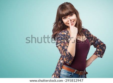 young woman joking - stock photo