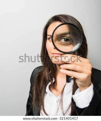 young woman looking lens - stock photo