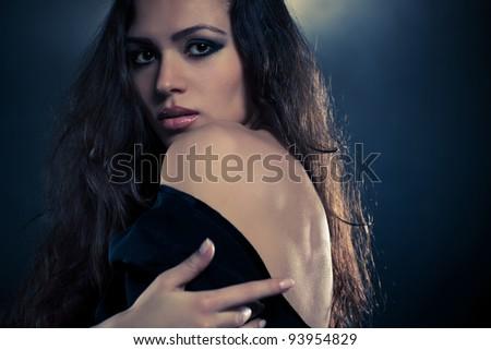 Young woman portrait fashion sexy portrait. - stock photo