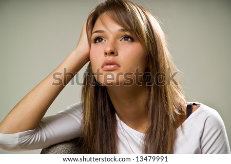 young woman's portrait - stock photo