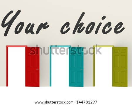 Your choice - stock photo