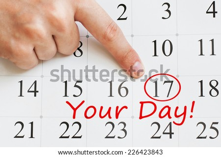 Your Day written on a calendar page - stock photo
