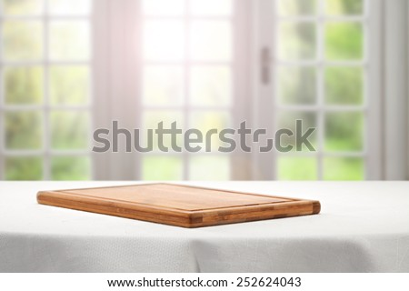 your free space for decoration and background of white window with sunlight  - stock photo