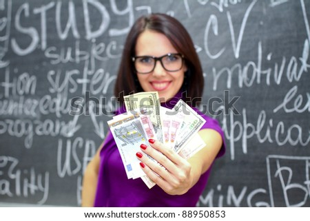 Your knowledge is your money - stock photo