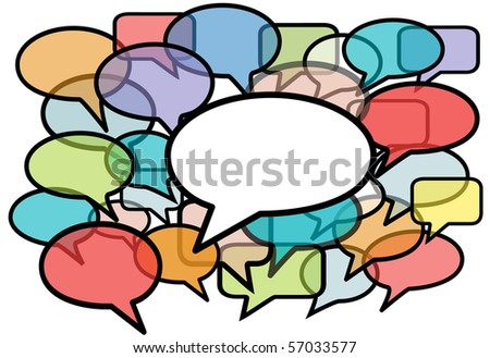 Your message is heard above social media network noise in speech bubble copy space background. - stock photo