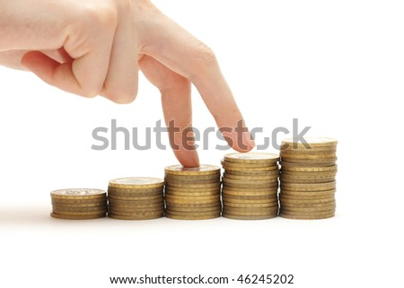 Your profit goes up - stock photo