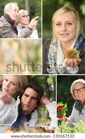 Youth and elderly - stock photo