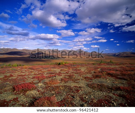 Yukon - Richardson Range and plains, Canada - stock photo