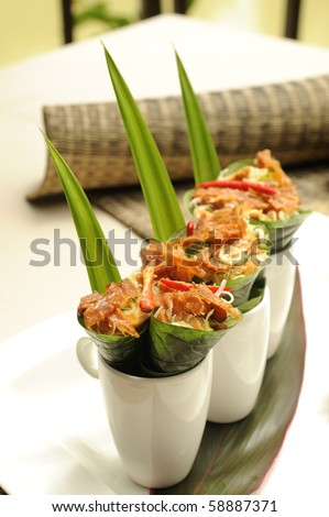 yum spicy with squid - stock photo