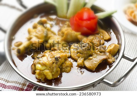 Yummy delicious chicken curry - stock photo