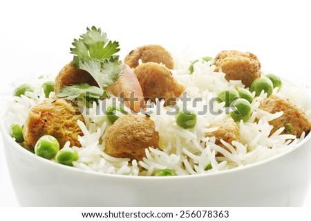 Yummy delicious peas polao - stock photo