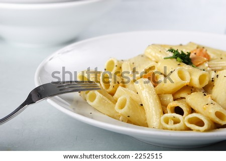 yummy italian pasta - stock photo