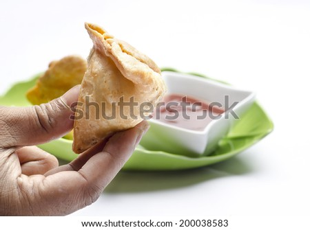 Yummy samosa - stock photo