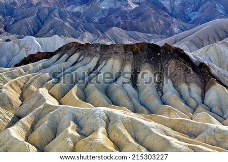 Zabriskie Poin - Death Valley National Park, California USA - stock photo
