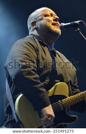 ZAGREB, CROATIA - 25 JUNE, 2014: Black Francis of Pixies performing at InMusic Festival. - stock photo
