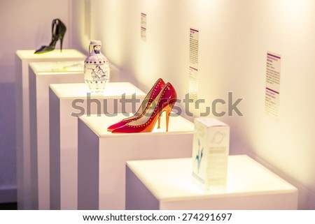 ZAGREB, CROATIA - 12 MARCH 2015: Museum items inside the Museum of Broken Relationships in Zagreb. - stock photo
