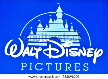 ZAGREB , CROATIA - NOVEMBER 25 , 2014 : Walt disney Pictures company logo printed on product ,product shot - stock photo