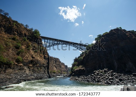 Zambezi River in Livingstone, Zambia - Africa - stock photo