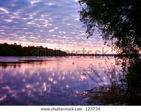 Zambezi sunrise - stock photo