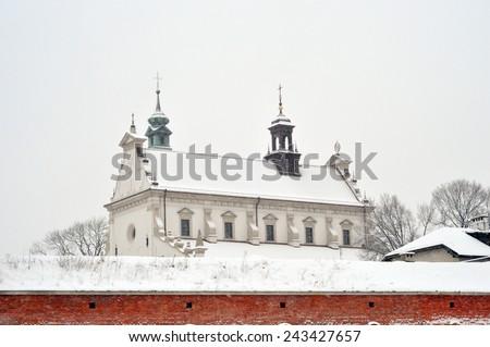 Zamosc town walls - stock photo