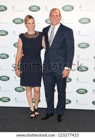 Zara Phillips and Mike Tindall arriving for the all new Range Rover unveiling, London. 06/09/2012 Picture by: Henry Harris - stock photo
