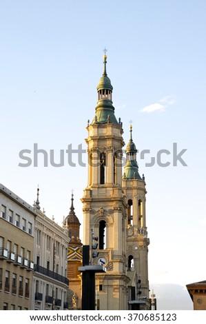 Zaragoza architecture - stock photo