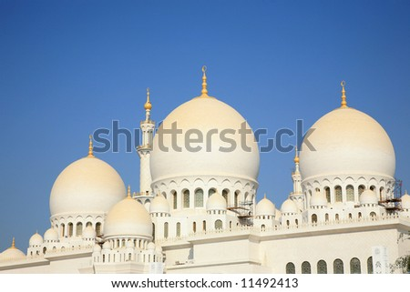 Zayed Mosque Ahu Dhabi UAE - stock photo