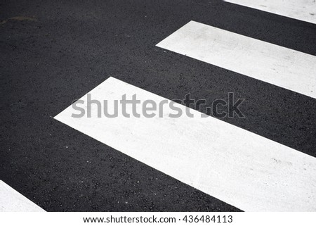 Zebra crossing without anyone crossing it. - stock photo