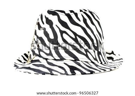 Zebra pattern hat - stock photo
