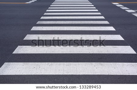 Zebra pedestrian crossing. - stock photo