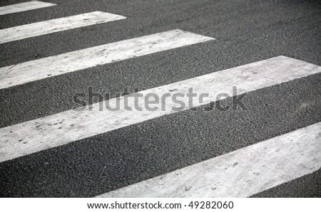 Zebra : Pedestrian road crossing - stock photo