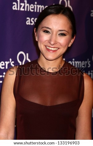 "Zelda Williams at the 21st Annual ""A Night at Sardi's"" to Benefit the Alzheimer's Association, Beverly Hilton, Beverly Hills, CA 03-20-13 - stock photo"