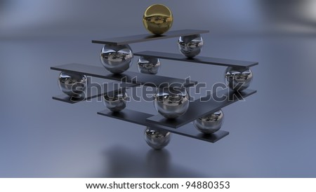 zen abstract sculpture - stock photo