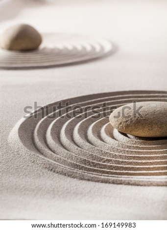 zen balance with meditation and contemplation - stock photo