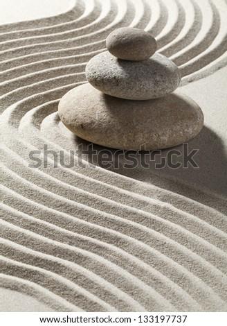 zen flexibility and mindfulness - stock photo