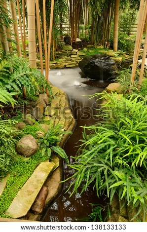 Zen garden of relaxation - stock photo