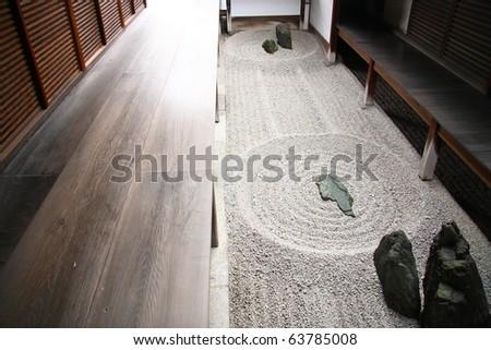 Zen Gardens of Kyoto - stock photo