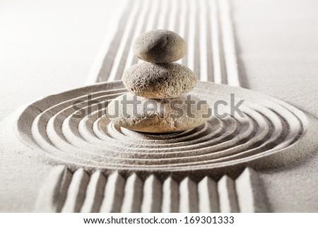 zen harmony for inner beauty  - stock photo