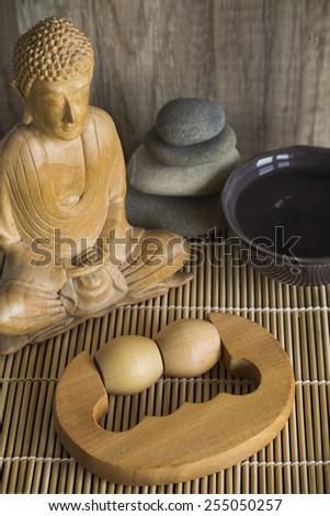 Zen Massage Roller - stock photo