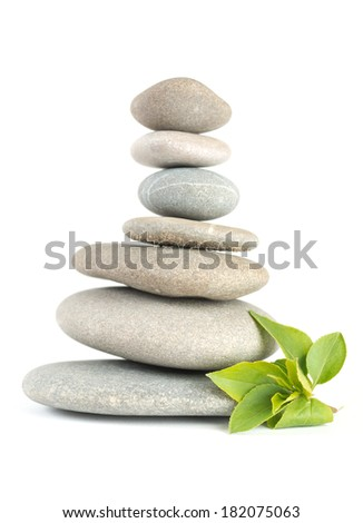 Zen pebbles balance. Spa and healthcare concept.  - stock photo