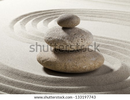 zen pebbles for relaxation - stock photo