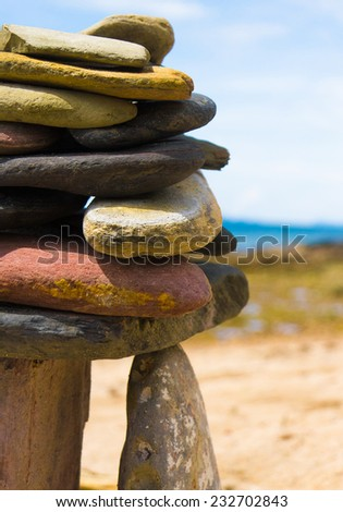 Zen Pebbles Sustainable Growth  - stock photo