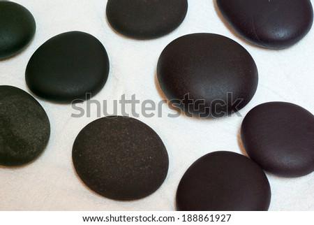 zen stones for spa - stock photo