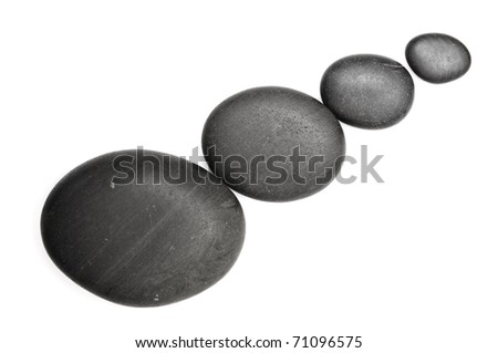 zen stones  isolated on white - stock photo