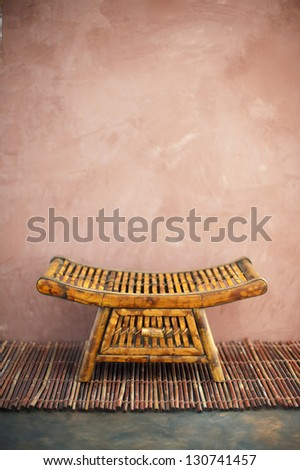 Zen style tray in a simple asian setting. - stock photo