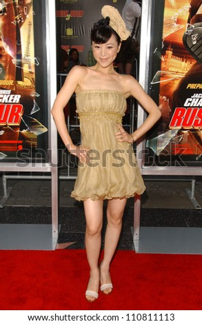 "Zhang Jing Chu at the Los Angeles Premiere of ""Rush Hour 3"". Mann's Chinese Theater, Hollywood, CA. 07-30-07 - stock photo"