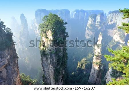 zhangjiajie national forest park - stock photo